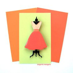 Vintage Dress on a Dress Form Vintage-Inspired Novelty Brooch Pin by TangerineMenagerie on Etsy