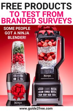 Some members received a FREE Ninja Blender - Make sure you join this one! Join Branded Surveys and get FREE Products to Test (and also make some easy
