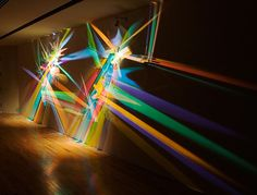 """Prism Party"" Light Paintings by Stephen Knapp – ArtStormer Light Art Installation, Lighting Sculpture, Projection Mapping, Museum, Party Lights, Glitch Art, Cool Lighting, Lighting Ideas, Lighting Design"