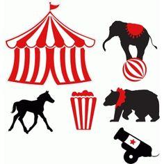 Silhouette Design Store: Circus Big Top And Animals Silhouette Files, Silhouette Design, Silhouette Studio, Image Cirque, Big Top Circus, Girl Themes, Silhouette America, Animal Design, Design Projects