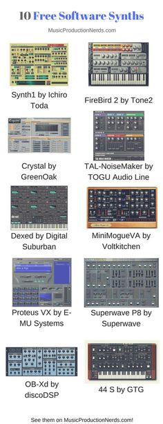 Here are 10 great software synths you can use for free in your music production and beatmaking. Music Recording Studio, Music Studio Room, Music Production Studio, Video Production, Music Software, Recorder Music, Music Theory, Your Music, Electronic Music
