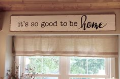 It's so good to be Home, reclaimed wood sign, fixer upper inspired, kitchen sign by FlatCreekDesign on Etsy
