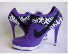 Purple nike heels  Love these