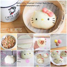 Hello Kitty Steamed Chicken Buns