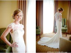 Sara Kelley Photography / Laced Back Wedding Dress / via StyleUnveiled.com
