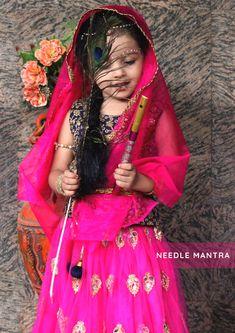 happy janmashtami costume,little radha,radha krishna dress Krishna Ashtami, Radha Radha, Happy Janmashtami, Kids Dress Wear, Photography Themes, Cool Girl Pictures, Costumes, Sari, Photoshoot