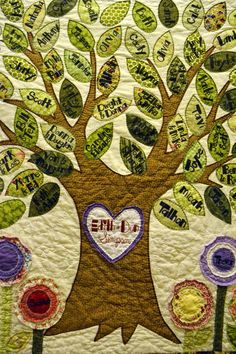 family tree quilt | Family Tree Quilt - Mellin Patch Quilts and Crafts