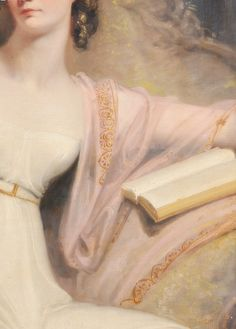 Portrait of a young girl, Detail. Circle of Sir Thomas Lawrence