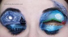 Katie Alves Pirates of the Caribbean themed eye makeup