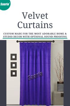 Pleated Curtains, Velvet Curtains, Curtain Panels, Panel Curtains, Beautiful Curtains, Sound Proofing, Room Decor, Decor Ideas, Website