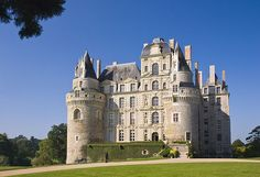 The Chateau de Brissac is a curious mixture. Medieval towers and newer sections from the Loire Valley, France Monuments, Culture Of France, Loire Valley France, Medieval Tower, Beautiful Castles, Beautiful Places, Castle Ruins, Marquise, 11th Century