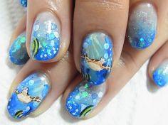Sea Turtle Nail Art   littlecactusflower:Sea life nails Bing search