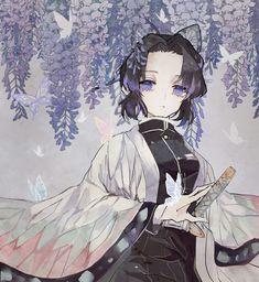 Kimetsu no yaiba Demon slayer Kochou shinobu Anime Angel, Anime Demon, Demon Slayer, Slayer Anime, Otaku Anime, Kawaii Anime, Anime Illustration, Demon Hunter, Fan Art