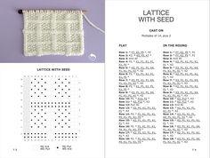 Knit Stitch Book: 50 Knit + Purl Patterns by Studio Knit Easy Knitting Patterns, Knitting Stitches, Knitting Designs, Knitting Projects, Stitch Patterns, Crochet Patterns, Knitting Help, Knitting Books, Baby Knitting