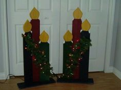 christmas wood craft | Wood craft candles | Holiday and Crafts