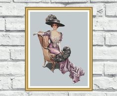 Elegant counted cross stitch pattern by CrossStitchObsession