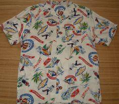 Mens Vintage Jamaica Rum Hawaiian Aloha Shirt  S by thehanashirtco