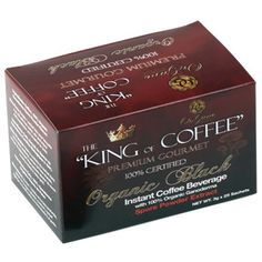 "King of Coffee !!!  Exclusively produced by Organo Gold, the ""King of Coffee"" proudly features Premium Organic Coffee infused with Certified Ganoderma Spore Powder"". High quality coffee beans and Ganoderma are just part of this great coffee. Fantastic paired with any food, its lighter coffee taste and fresh aroma is bound to make it a happy part of every day.  visit www.sexytastycoffee.organogold.com"