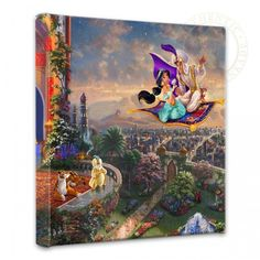 "Thomas Kinkade ""Aladdin"" Size: 14 by 14 Canvas Giclee Prints"