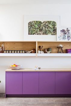 AphroChic: 10 of The Most Inspiring Colorful Kitchen Cabinets