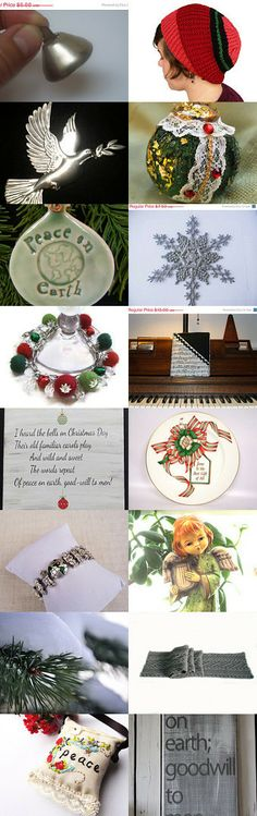 I heard the bells on Christmas day . . . by Susan Rodebush on Etsy--Pinned with TreasuryPin.com