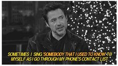"""Robert Downey Jr. sings """"Somebody that I Used to Know""""... Of course he does."""