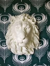 Faux Taxidermy Lion Head Wall Decor Leonard the by mahzerandvee, Aubree apparently someone else really likes shiny animal heads for thier walls Animal Sculptures, Lion Sculpture, Wooden Sculptures, Faux Taxidermy, Resin Crafts, Art Plastique, Decor Crafts, Lions, Animaux