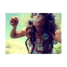girl blowing bubbles - clipped by lindsey♥ ❤ liked on Polyvore featuring pictures, people, girls, site models, photos, backgrounds, quotes, saying, phrase and text