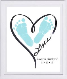 Heart Outline Footprint Wall Art tattoo ideas in memory of Baby Footprint Art, Forever Prints hand and footprint keepsake for kids or baby. Mother's Day, New Mom, Nursery Art Baby In loving memory Kids Crafts, Mothers Day Crafts For Kids, Fathers Day Crafts, Baby Crafts, Toddler Crafts, Quick Crafts, Crafts For Babies, Newborn Crafts, Toddler Art