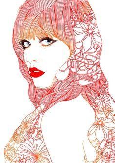 ●As ilustrações de Hajin Bae Eu amo ilustrações, e dando uma...