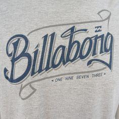 Billabong Men's Gray XL Organic Cotton Graphic Spell Out Billabong t-shirt M441 #Billabong #GraphicTee
