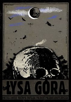 Łysa Góra. Poster by Ryszard Kaja. #lysagora #poland #poster #polska #pologne #ryszardkaja #seeuinpoland #visitpoland