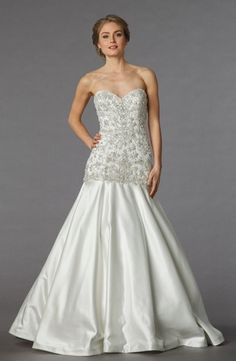 Sophia Moncelli - Sweetheart Mermaid Gown in Beaded Embroidery