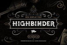 Highbinder Display Font by Vintage Type Co. on @creativemarket