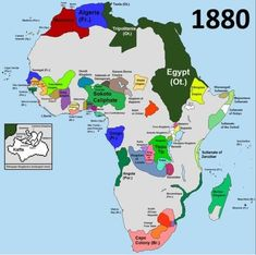 Before the Scramble for Africa, 1880.