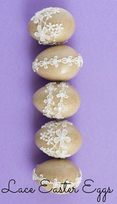 Lace Easter Eggs - simple to make and will last year after year! | http://www.designimprovised.com