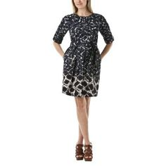 Thakoon for Target Printed Tie-Waist Dress in Black/White $39.99