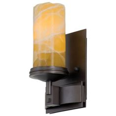 Kalco Espille - One Light ADA Wall Bracket, Bronze Finish with Cased White Glass