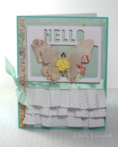 Hello Butterfly Card by julie_stamps at Studio Calico