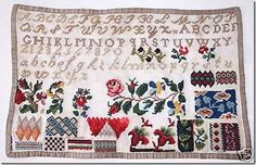 A 19th Century FRENCH Sampler ~ Beloved Linens