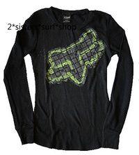 NEW! FOX RACING Black Thermal Long Sleeve Shirt Sz S