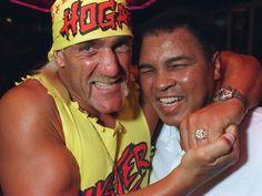 Hulk-o-Ali headlock. Hyping the upcoming Halloween