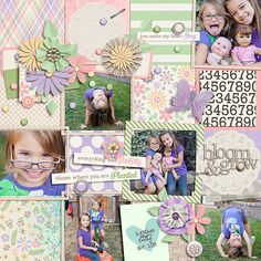 Layout by kristalund Blossoms & Bliss by Amber Shaw & Tickled Pink Studio- http://www.sweetshoppedesigns.com/sw...733&page=1 Brook Magee Template