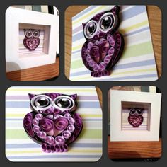 #quilling #quilled #owl #purple www.facebook.com/mrslamontcrafts