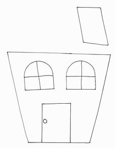 Haunted house template printable assemble the small gable window halloween crafts print your haunted house template at allkidsnetwork pronofoot35fo Gallery