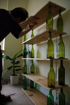 14 Brilliant Ways To Use Your Empty Wine Bottles... Yes I am a vinoholic, only sometimes!