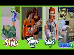 PREGNANCY AND CHILDBIRTH THE SIMS 1 TO THE SIMS 4 GAME EVOLUTION - YouTube