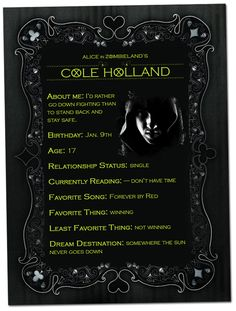 Cole Holland from Alice in Zombieland