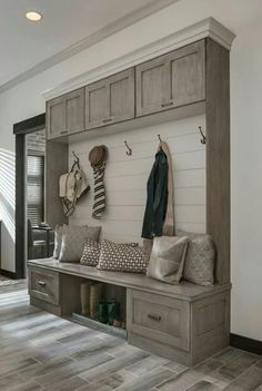Unbelievable Wall Lift and Stay-Medallion Cabinets. Love for mud room The post Wall Lift and Stay-Medallion Cabinets. Love for mud room… appeared first on Home Decor Designs . Medallion Cabinets, Home Projects, Home Remodeling, Sweet Home, New Homes, Room Decor, Wall Decor, Living Room, Interior Design