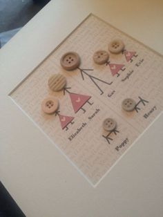 Your place to buy and sell all things handmade Together we make a family stick men people by ButtonNButterflies. Scrabble Kunst, Scrabble Frame, Scrabble Art, Box Frame Art, Box Frames, Frames Ideas, Family Crafts, Crafts For Kids, Fun Crafts